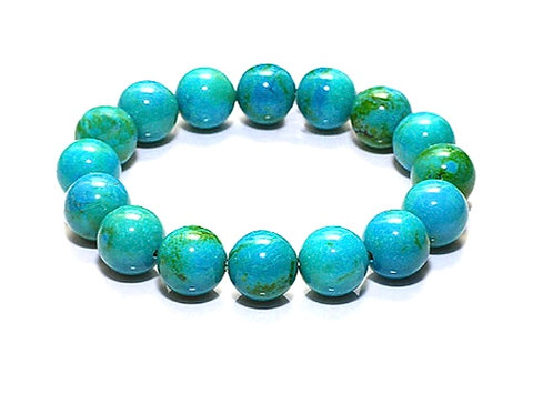 Natural Turquoise Bracelet 10 mm, Grade AAA