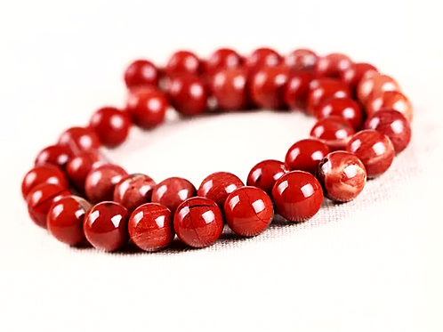 Natural Red Jasper Bracelet 10 mm (Grade AAA)