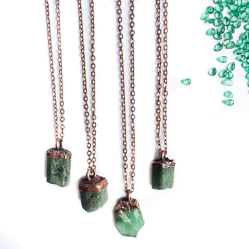 Natural Raw Emerald Pendant