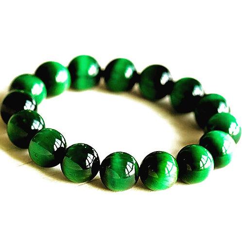 Green Tiger Eye Bracelet 10 mm