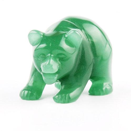 Natural Jade Carved Bear