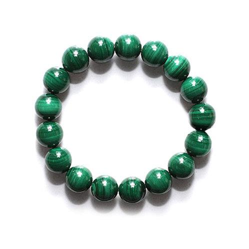 Natural Malachite Bracelet 10mm Grade AAA