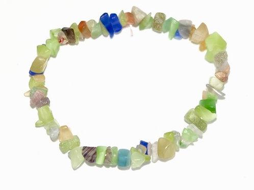 Natural Fluorite Chips Bracelet