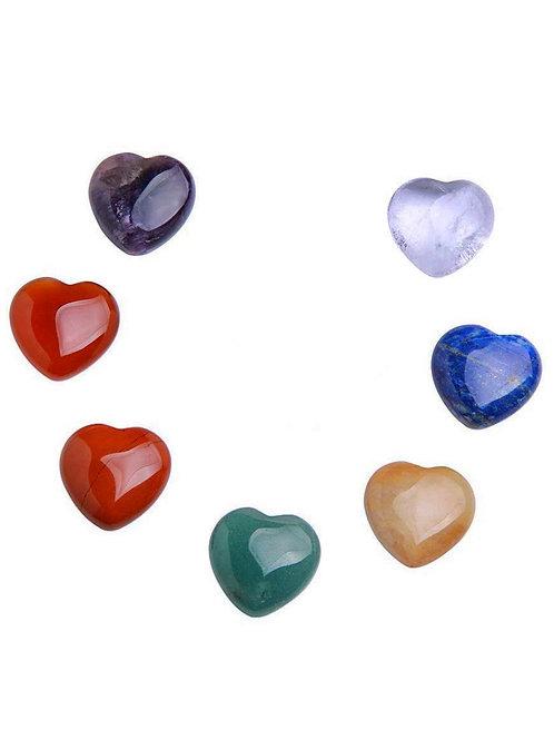 7 Chakra Heart Stones