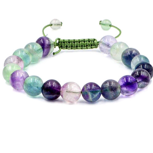 Natural Fluorite Adjustable Bracelet Grade AA