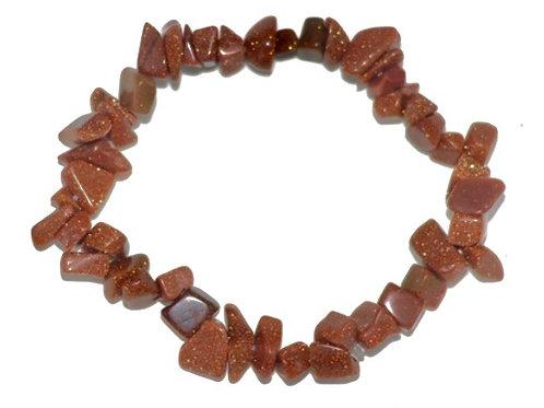 Natural Gold Stone Chips Bracelet