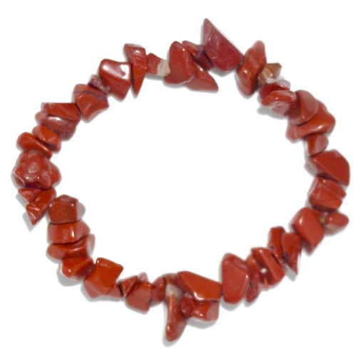 Natural Red Jasper Chips Bracelet