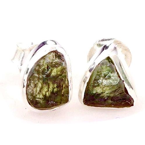 Natural Moldavite Earrings