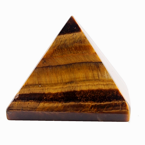 Natural Tiger Eye Pyramid 40 mm Grade AAA