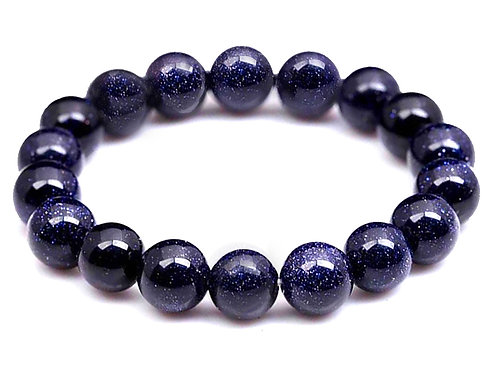 Natural Blue Sand Stone Bracelet 10 mm Grade AA