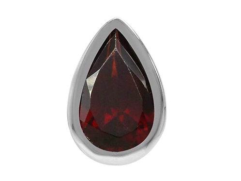 Garnet 8mm Pear 925 Sterling Silver Stud Earrings