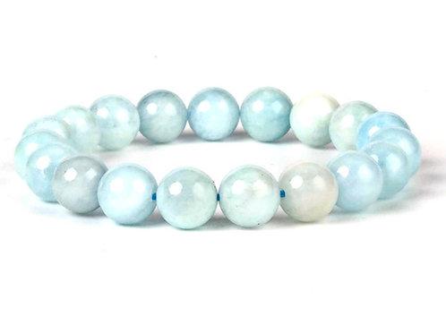 Natural Aquamarine Bracelet 10 mm