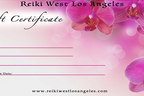 10 Reiki Session Package Gift Card