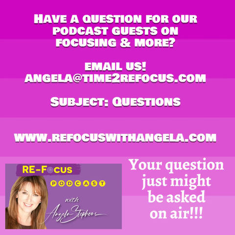 Questions for our Podcast Guests? Email us at: angela@time2refocus.com