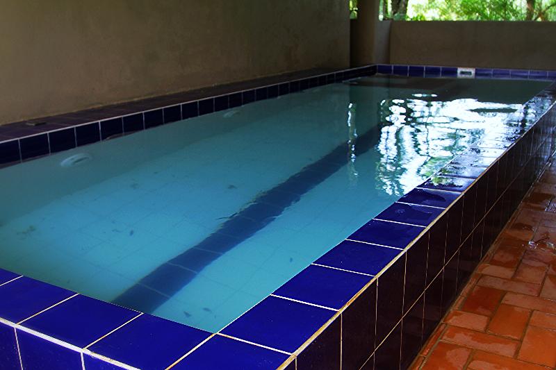 Nossa piscina coberta