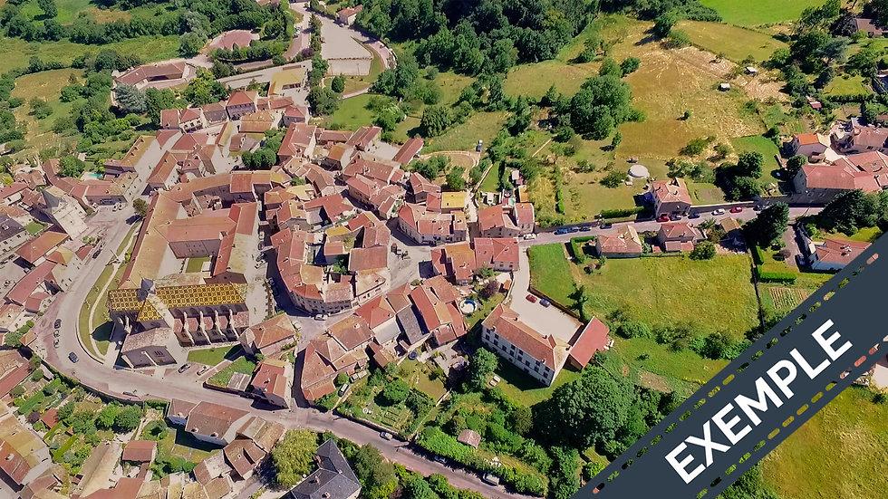 Photos aériennes de villes par drone