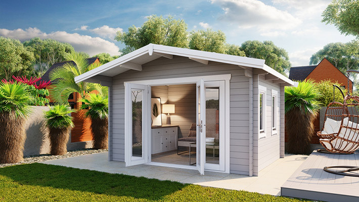The Crete Panorama backyard kit studio or home office - Professionally Installed or DIY in Victoria