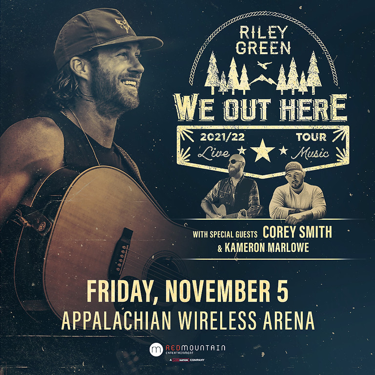 """Riley Green """"We Out Here"""" Tour"""