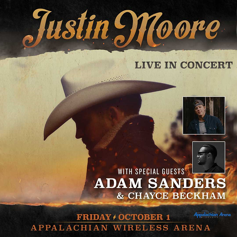 Justin Moore with special guest Adam Sanders and featuring Chayce Beckham