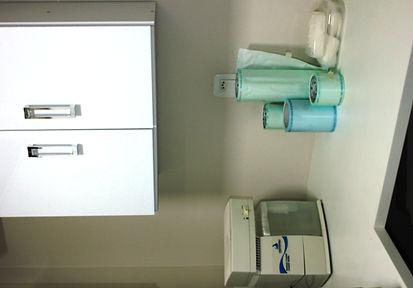 Centro de esterilização de todos os materias utilizados nos procedimentos - implantes dentários, extrações, facetas de porcelana, entre outros.