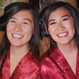 Before-and-after-makeup-asian-bridesmaid