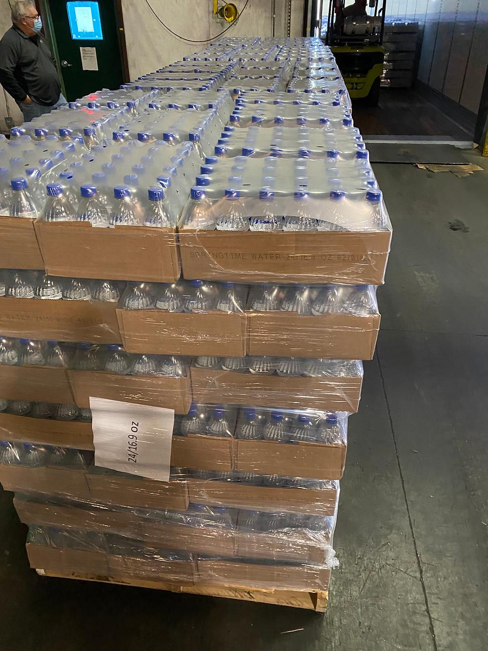 Augusta Georgia trucking company, F&W Transportation, water donation