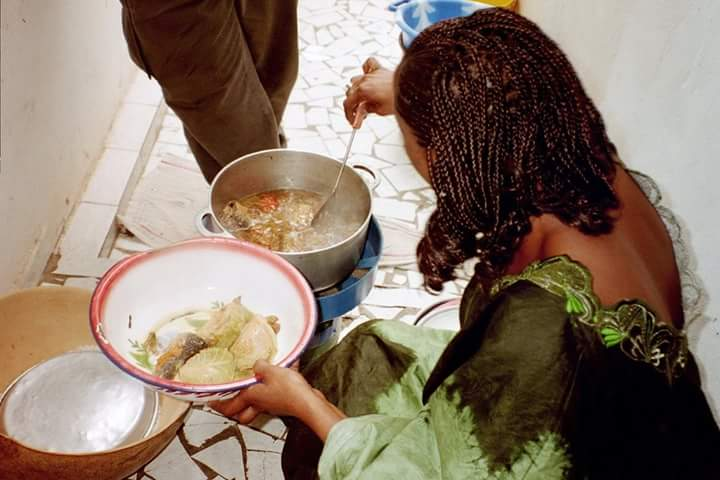Cooking in Yoff Senegal