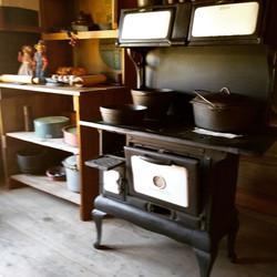Typical cabin era kitchen