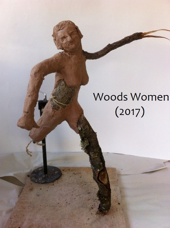 This project explored older women's experiences as we move and dance through the deterioration and increasing limitation of our bodies. I had been focussing on cycles of life, particularly the last stage of the human lifecycle and linking this to the lifecycle of trees. I had reached my 60's which has been celebrated as the 'hag' stage in women's lives. Interestingly for trees the final stage in their lifecycle is called 'snag'.   Approximately 80% of a mature tree consists of layers of dead material. Decay is about metamorphosis and transformation, which is neither good or bad but just change. We all deteriorate, we are all aging. Culturally we have been used to seeing ageing as an entirely negative thing, but these views don't necessarily reflect the experiences of people who are ageing. In a lot of ways ageing is a wonderful experience.   The setting for this work was woodland environments. I used natural materials, selecting tree parts that are beginning to disintegrate, in their natural cycle of degeneration. There is something beautiful about rotting materials.  These art works started as test pieces, sketches or maquettes. This is how I develop my ideas through my hands. I have also traced my own body in the handprint of making these pieces. When displaying these works I like to invite people to use their hands, to pick up and feel these pieces.  I photographed and filmed these sculptures disintegrating further in rain and wind and collapsing into the woodland stream at Padley Gorge in the Peak District.