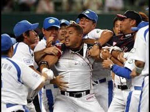 プロ野球の乱闘シーン