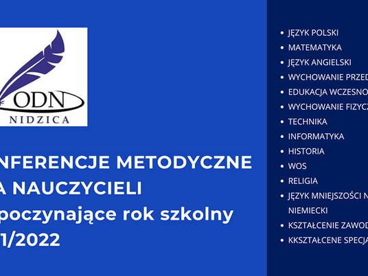 Konferencje metodyczne dla nauczycieli powiatu nidzickiego, działdowskiego, szczycieńskiego