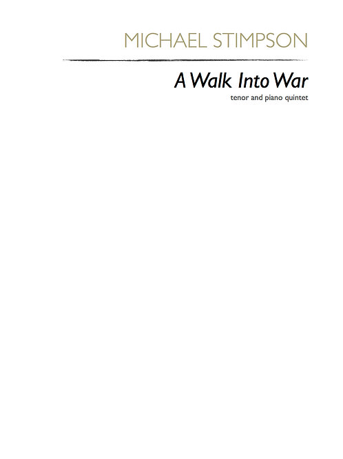 A Walk Into War (score and parts)