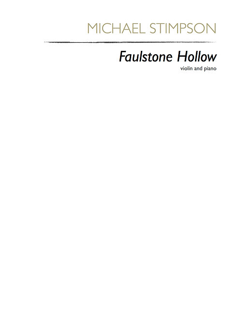 Faulstone Hollow (score)