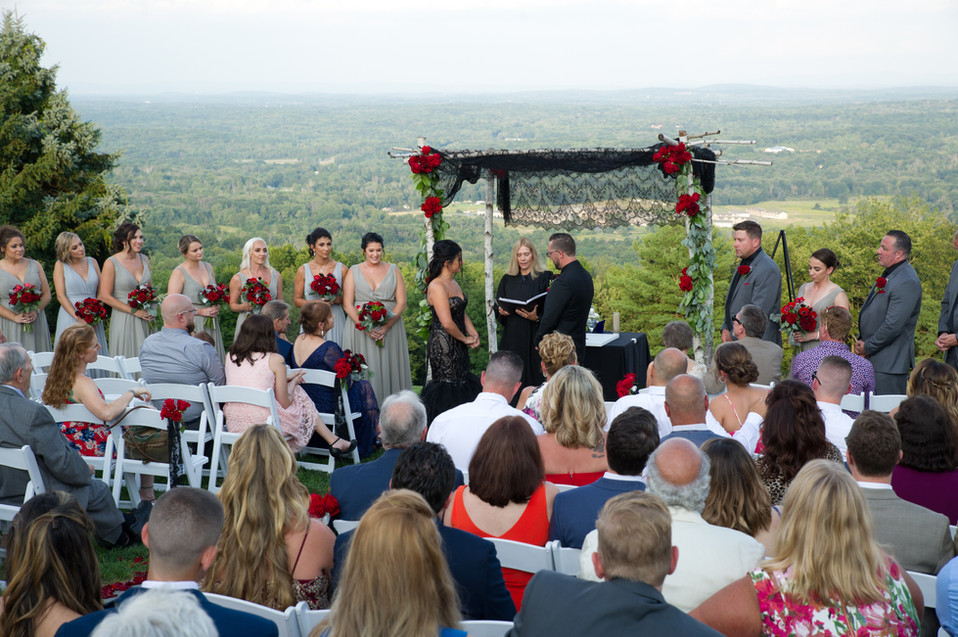 Wedding Ceremony with a view
