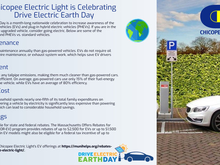 Chicopee Electric Light is celebrating Drive Electric Earth Day!