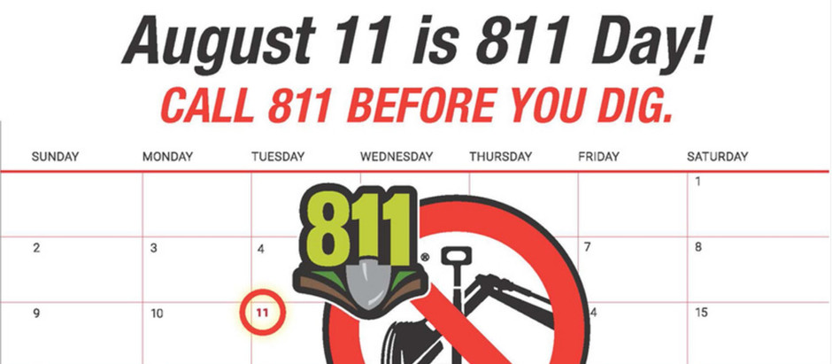 August 11th is 811 Day!