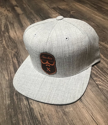 Gray Leather Bearded X Hat