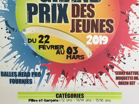 TOURNOI GRAND PRIX DES JEUNES 2019 Meudon René Leduc... finales et remise des prix Dimanche 3 mars!!
