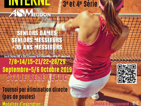 "TOURNOI INTERNE ""ADULTES"" - SEPT./OCT. 2019"
