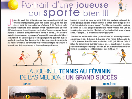 JOURNEE INTERNATIONALE DE LA FEMME et FETE DU TENNIS FEMININ du 9 février 2019