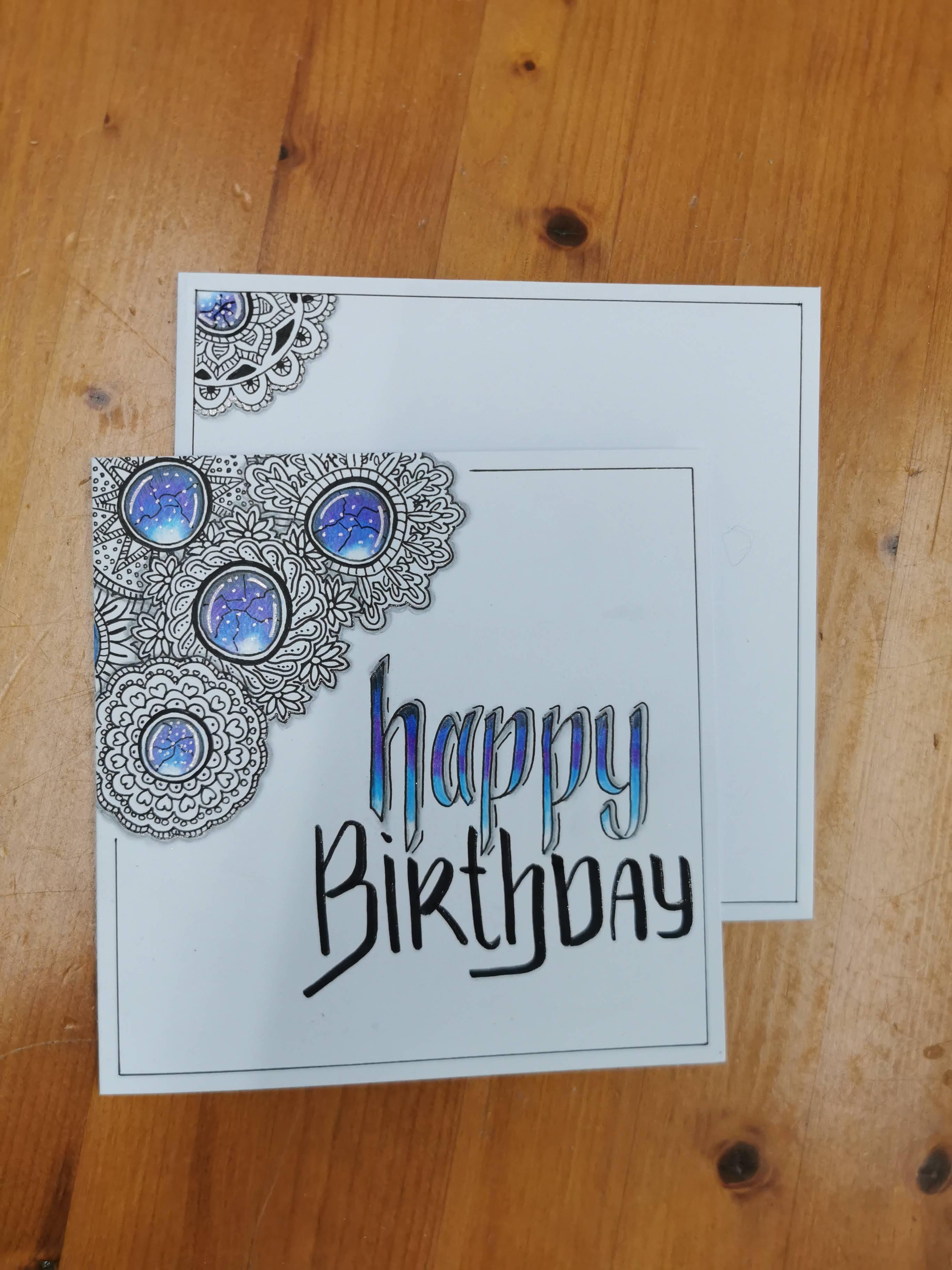 Happy Birthday Karte Edelsteine