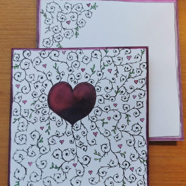 Valentins- oder Muttertagskarte