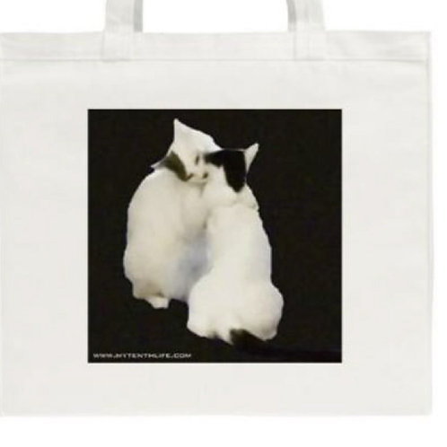 'The Secret' Large Cotton Canvas Tote