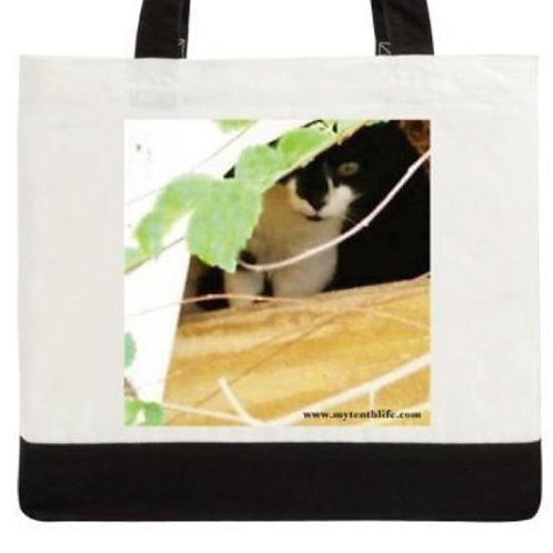 'Peeks' Cotton Canvas Tote Bag Large
