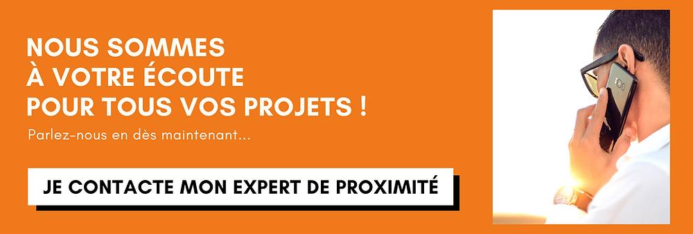 Bouton de contact Expert de proximité Solembra pour parler de votre projet ! Nos équipes sont à votre écoute et à votre service