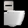 IPEE T1 Basic slim toilet pack met dikke zitting, rvs
