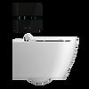 IPEE T5 Premium slim toilet pack met dunne zitting, glas