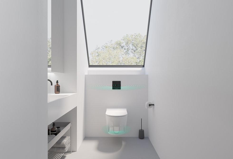 IPEE T5 slim toilet in witte badkamer