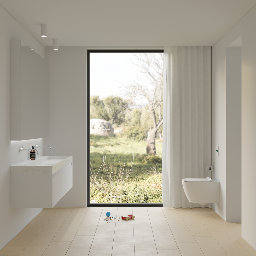 IPEE T5 slim toilet in witte design badkamer