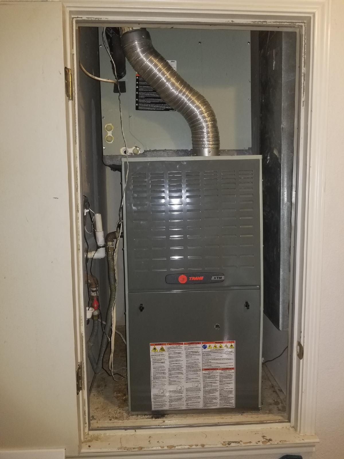 Beasley Trane Furnace Install
